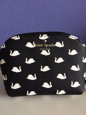 Kate Spade New York Kosmetiktasche schwarz mit Schwanendeko