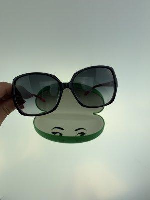 Kate Spade Hoekige zonnebril zwart-magenta