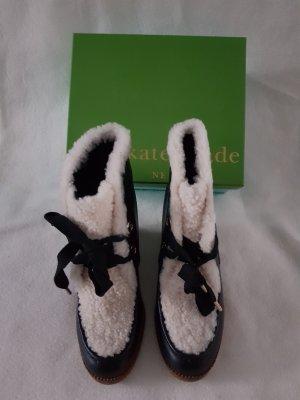 Kate Spade Bottines noir-blanc cuir