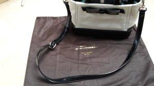 Kate Spade Tasche Weiß mit schwarzem Lack