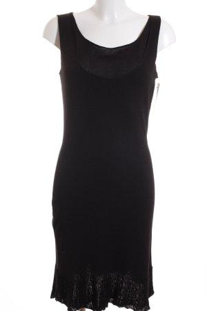 Kathleen Madden Strickkleid schwarz schlichter Stil