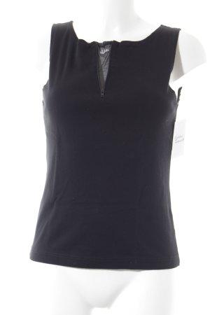 Kathleen Madden Camiseta sin mangas negro look casual