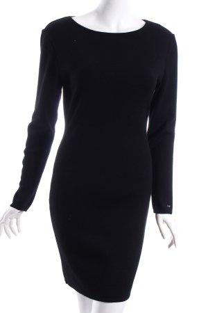 Kathleen Madden Wollkleid schwarz schlichter Stil