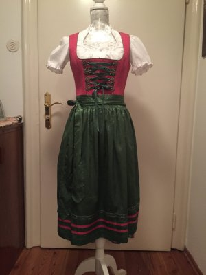 Traditional Dress pink-forest green