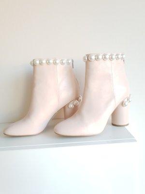 Stivaletto con zip rosa pallido-rosa chiaro