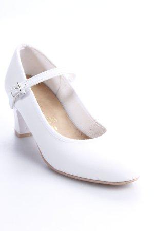 Katz Tacones Mary Jane blanco estilo clásico