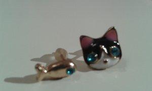 Katze Fisch Ohrringe