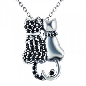Katzen-Pärchen 925 Sterling Silber