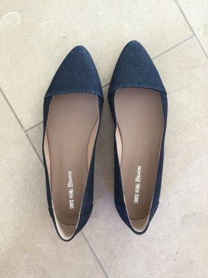 Kauf dich glücklich Ballerina jeansblau Größe 38