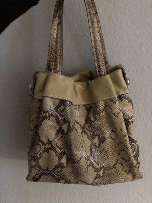 Kauf dich glücklich echt Leder Tasche Handtasche Bag Shopper Reptil Snake Schlangenmuster 149€