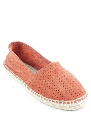 Kauf Dich Glücklich Espadrilles-Sandalen rostrot-beige Punktemuster Casual-Look