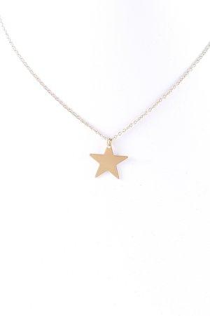 Kauf Dich Glücklich Cadena de oro color oro Patrón de estrellas look casual
