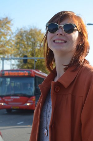 KauF DiCh GLücklich - Mantel in Orange - Blogger Style - Gr.M