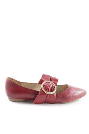 Kauf Dich Glücklich Bailarinas con tacón Mary Jane rojo look casual