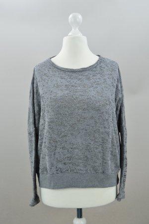 Kauf Dich Glücklich Pullover mit Struktur grau Größe S