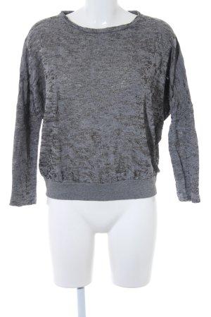 Kauf Dich Glücklich Rundhalspullover grau Monogram-Muster schlichter Stil