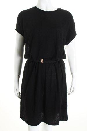 Kauf Dich Glücklich Strickkleid schwarz schlichter Stil