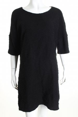 Kauf Dich Glücklich Sweatkleid schwarz schlichter Stil