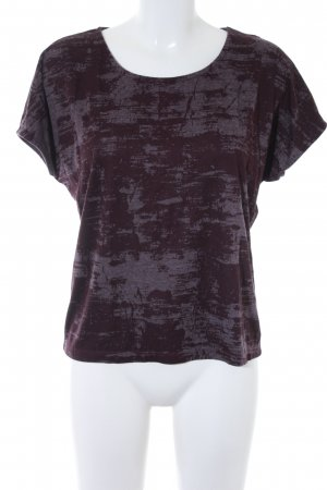 Kauf Dich Glücklich T-Shirt brombeerrot-blasslila abstraktes Muster