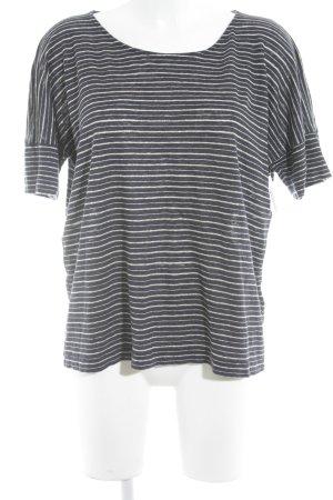 Kauf Dich Glücklich T-Shirt Streifenmuster Casual-Look
