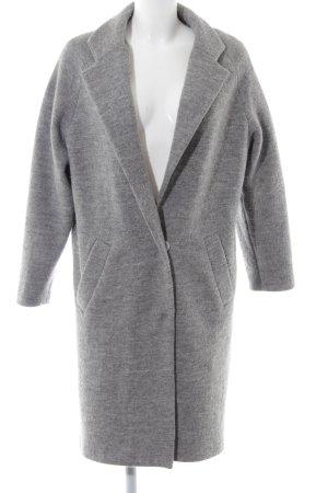 Kauf Dich Glücklich Cappotto in lana grigio chiaro stile casual