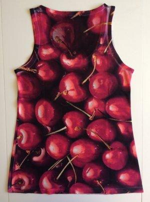 Kaum getragen Armlos Shirt mit Kirsche, Größe M von BRAVE SOUL. Wie neu!