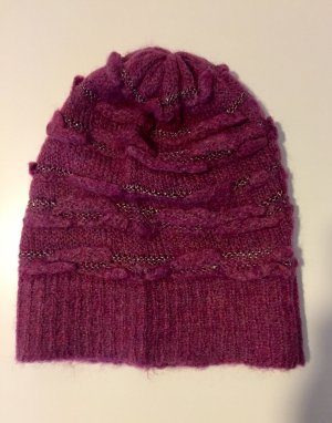 United Colors of Benetton Chapeau en tricot violet
