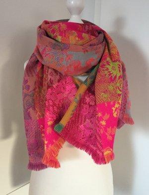 Kenzo Sciarpa con frange multicolore Tessuto misto