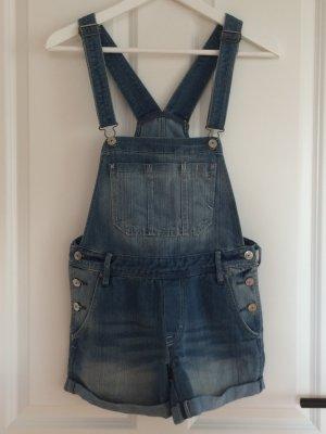 Kaum getragen kurze Jeanslatzhose von H&M, Größe 164.