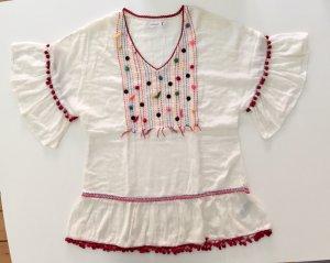 women'secret Beachwear natural white-dark red