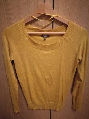 Kaum getragener Pullover in gelb