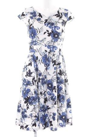 Kavi A-Linien Kleid florales Muster klassischer Stil