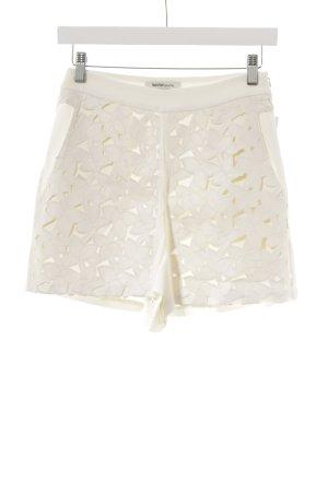 Kaviar Gauche for Zalando High-Waist-Shorts wollweiß Blumenmuster Casual-Look