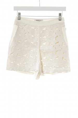 Kaviar Gauche for Zalando High-Waist-Shorts wollweiß Blumenmuster Casual-Look