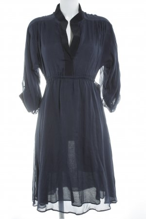 Kaviar Gauche Vestido de manga larga azul oscuro-negro look casual