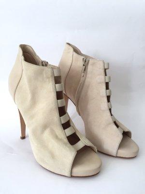 KAVIAR GAUCHE Pumps High Heels Hochzeit Schuhe Nude Beige Weiß *NEU*