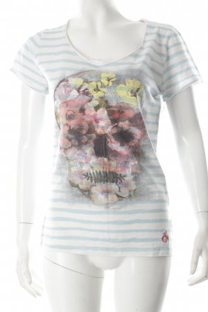 Kay Largo Girls T-Shirt weiß-hellblau Motivdruck Casual-Look