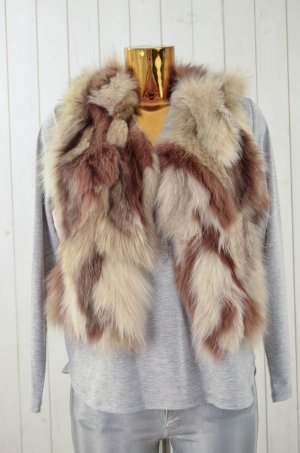 Fur vest multicolored fur