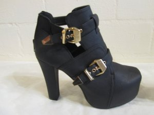 KAYLA: Auffällige Schuhe, NEU, Gr. 40, schwarz-gold