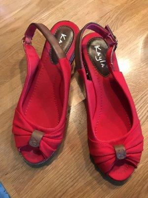 Kayla Sandaletten , Keilabsatz, rot, Größe 40
