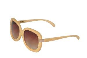 Gafas de sol redondas albaricoque-beige Algodón