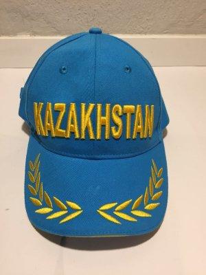 Gorra de béisbol color oro-azul neón
