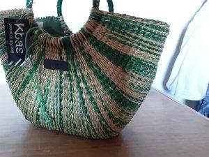 Basket Bag oatmeal-green