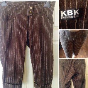 Kbk Pantalón capri marrón-color oro