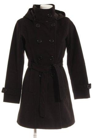Kbk Manteau à capuche noir style décontracté