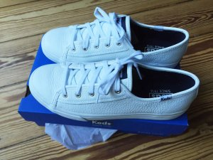 Keds Double up leather off white Sneaker Sneakers weiss Leder - 38 - WIE NEU