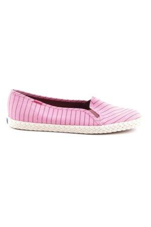 Keds Espadrilles-Sandalen pink-schwarzbraun Streifenmuster