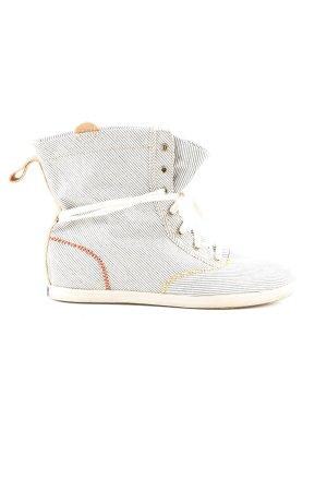 Keds High Top Sneaker hellgrau-weiß Streifenmuster Street-Fashion-Look