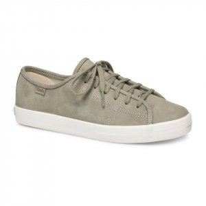 Keds Lace-Up Sneaker sage green leather