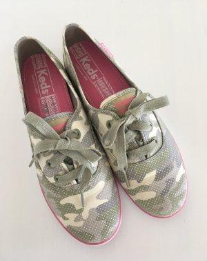 Keds Rookie Camo Tan Sneaker 37,5 & 38 Ballerina Camouflage Slippers Slipons Sport Schuhe